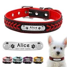 Cuello de perro personalizado Cuello de perro personalizado Cuello de felpa acolchado collar de identificación de animales Collar para perros pequeños medianos y grandes Gatos