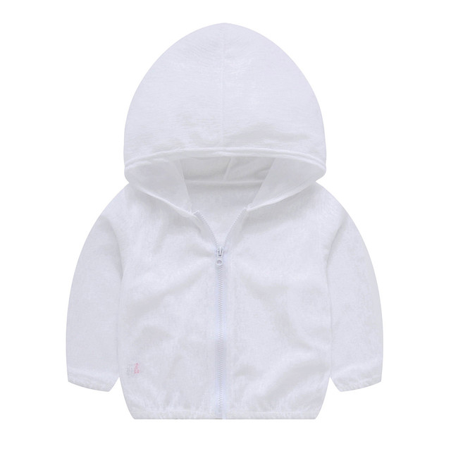 6206b7ac4 New Fashion Toddler Summer Sunscreen Jackets Baby girls Hooded Outerwear  Solid Zip Coats High Quality Drop Shipping