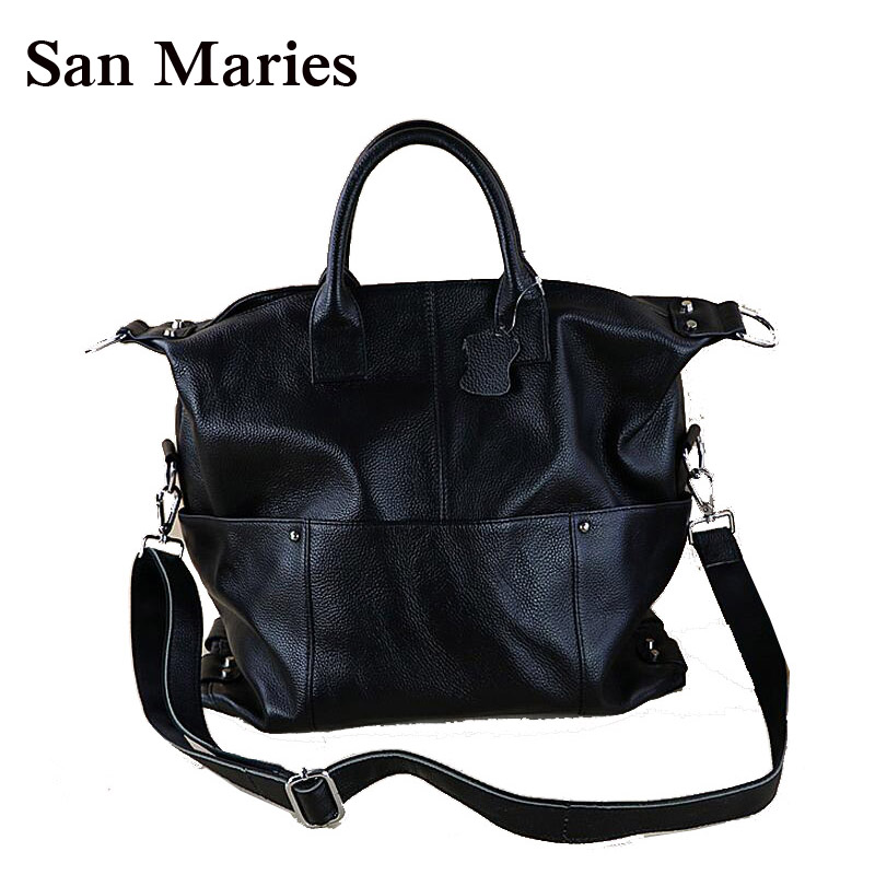 Autumn Winter High Quality Genuine Cow Leather Women Messenger Bag Large Capacity Tote Famous Brand Bolsa