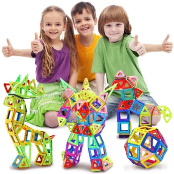 184pcs-110pcs Mini Magnetic Designer Construction Set Model & Building Toy Plastic Magnetic Blocks Educational Toys For Kids Gif 2