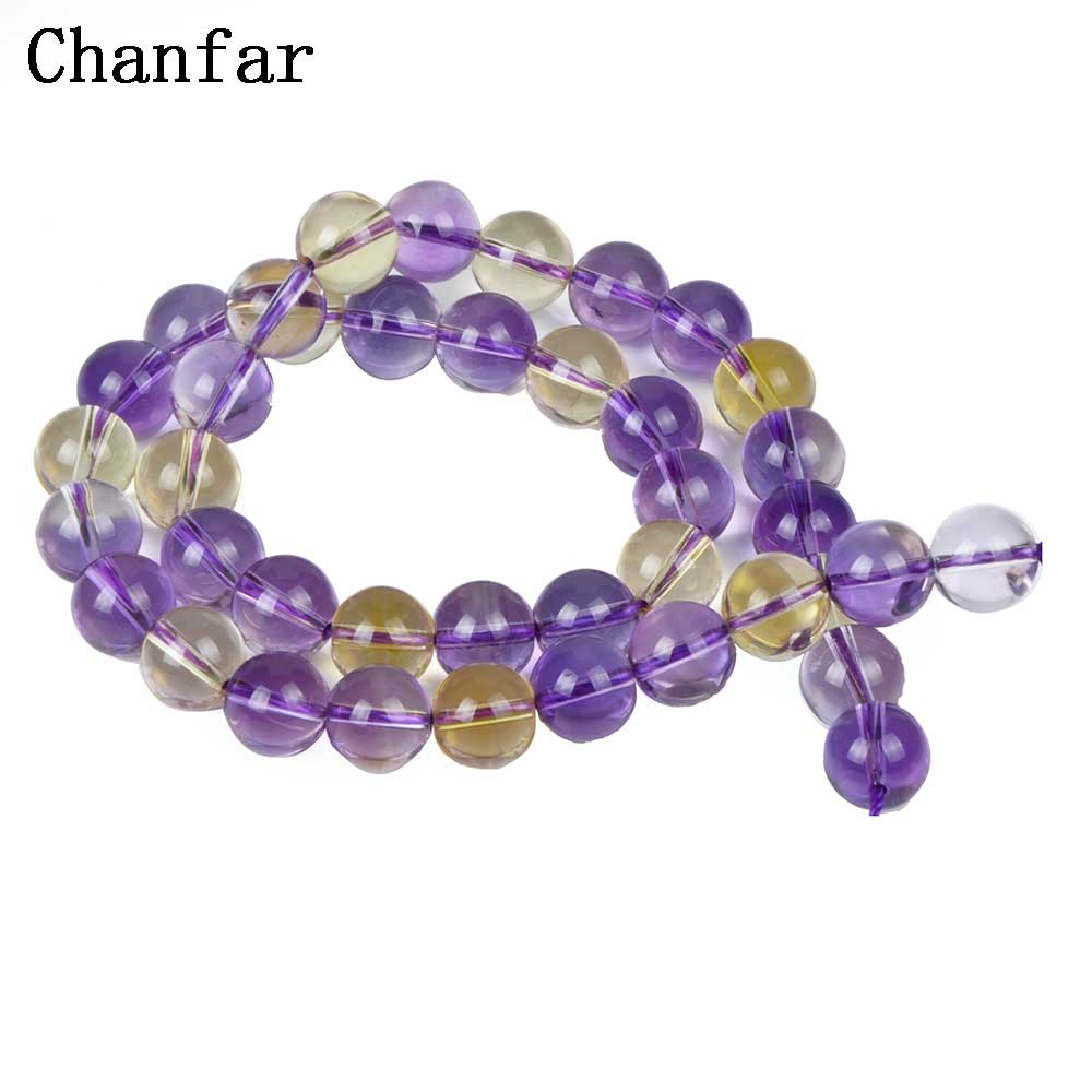 Purple Golden Semi-precious Stone Beads Women Jewelry DIY Fashion Making Beads 6 8 10mm