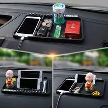 Универсальная автомобильная приборная панель ПВХ липкий коврик кнопочный телефон подставка держатель gps Противоскользящий коврик наклейка для автомобиля номер телефона автостайлинг