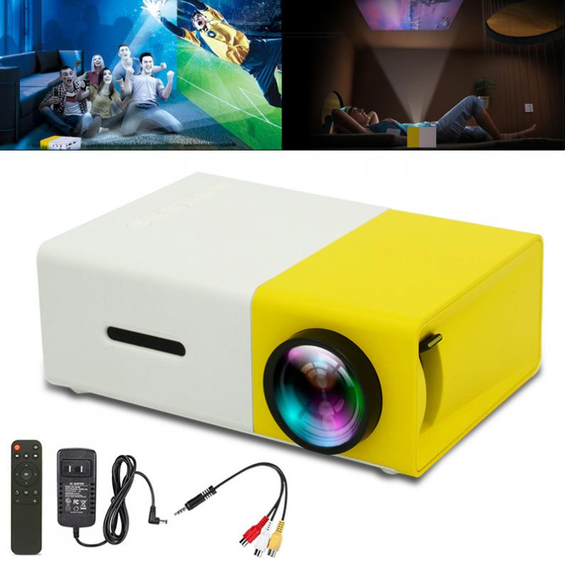 10W 24W YG300 Universal 60 Inch HD Portable Mini LED Pocket Projector for Home and Entertainment
