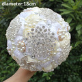 Arrival 2017 New Decoration Brooch Bridal Satin Romantic Wedding Bouquet Flowers