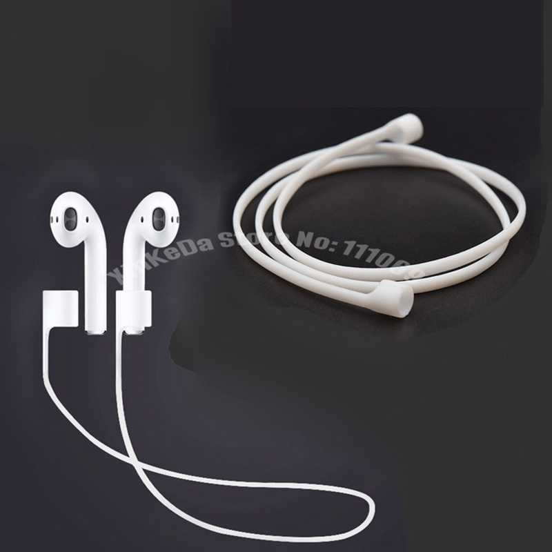 100pcs Airpods Strap For Apple Wireless Earphone Iphone 7 7plus Bluetooth Earphones Soft Silicone Anti Lost Rope Connect Cable For Iphone Strap Siliconestrap For Aliexpress