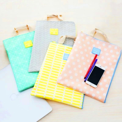 Sweet Candy Color Ice Cream A4  File Bag Document Bag File Folder Stationery Filing Production School Office Supply