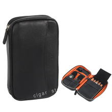 GALINER  Leather Cigar Case Travel Humidor Bag Box for Cutter Lighter Cohiba