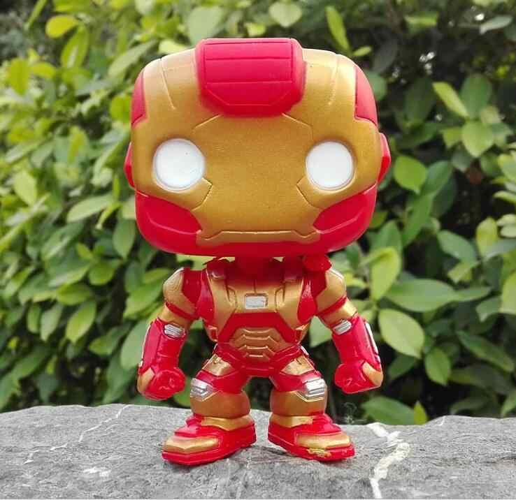 פופ מארוול נוקמי 2 אינפיניטי מלחמת תאנסו קפטן אמריקה איש ברזל פעולה איור Thor צעצוע ספיידרמן PVC דגם בובת עם תיבה