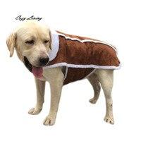 בגדי כלב לחיות מחמד גדול גדול חורף חם גור כלב בגדי דוגי ביגוד קפה מעיל תערובת כותנה מעילים לחיות מחמד סיטונאי D26