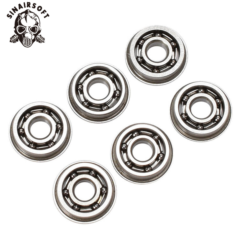 SINAIRSOFT 6pcs/set 8mm Stainless Steel High Precision Ball Bearing For Airsoft AEG Gearbox Paintball Hunting Accessories