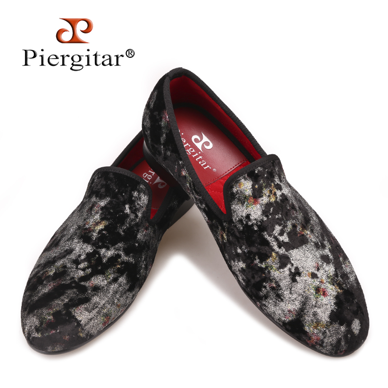 Piergitar 2017 New Colorful Prints designs men slip-on loafers Fashipin show and  party men