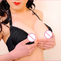 1200 g/pair Fake boobs false shemale breast forms silicone artificial adhesive breast For drag queen Crossdresser with gift