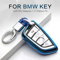 New TPU Car Key Case Cover For Bmw X5 F15 E53 X1 F48 X3 E83 X4 G30 F10 F31 F30 E30 E38 E39 E46 F07 Key Ring Shell Accessories