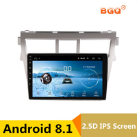 9 2.5D IPS Android 8.1 Car DVD Multimedia Player GPS For Toyota Vios YARIS 2008 2009 2010 2013 audio radio stereo navigation