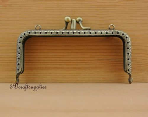 bag purse frame metal frame double sewing frame clasp 12.5 cm anti brass Y63 metal frame sewing bag purse frame clasp alloying 12 cm vintage d29
