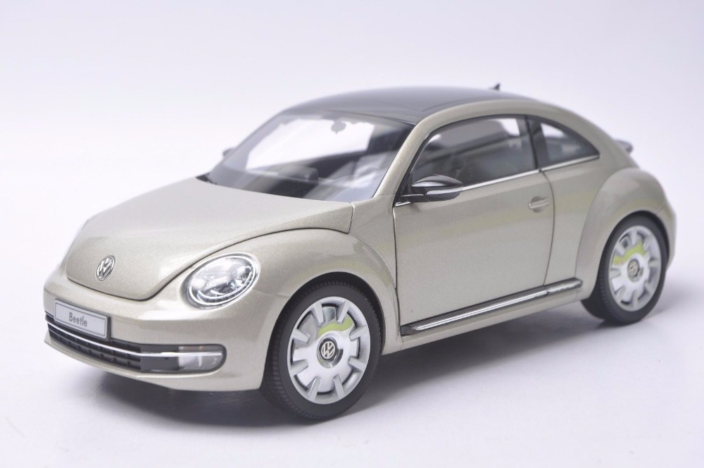 1:18 Diecast Model for Volkswagen VW Beetle Silver Minicar Alloy Toy Car Miniature Collection Gift 1 18 масштаб vw volkswagen новый tiguan l 2017 оранжевый diecast модель автомобиля