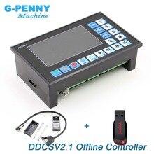 جديد وصول! DDCSV2.1 حاليا تحكم دعم 3 محور/4 محور أوسب نك تحكم واجهة نك راوتر آلة نقش بالحفر