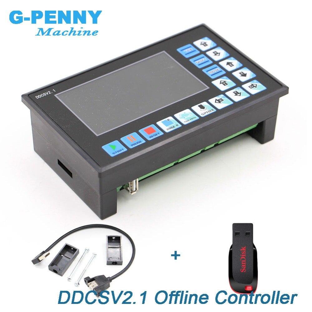 Neue Ankunft! DDCSV 2,1 Offline Controller Unterstützung 3 achse/4 achsen USB CNC controller interface CNC Router Gravur Fräsen maschine