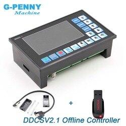 Neue Ankunft! DDCSV2.1 Offline Controller Unterstützung 3 achse/4 achsen USB CNC controller interface CNC Router Gravur Fräsen maschine
