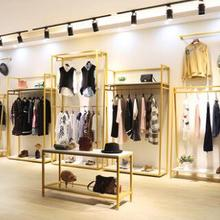 Showcase hangers in women's clothing stores