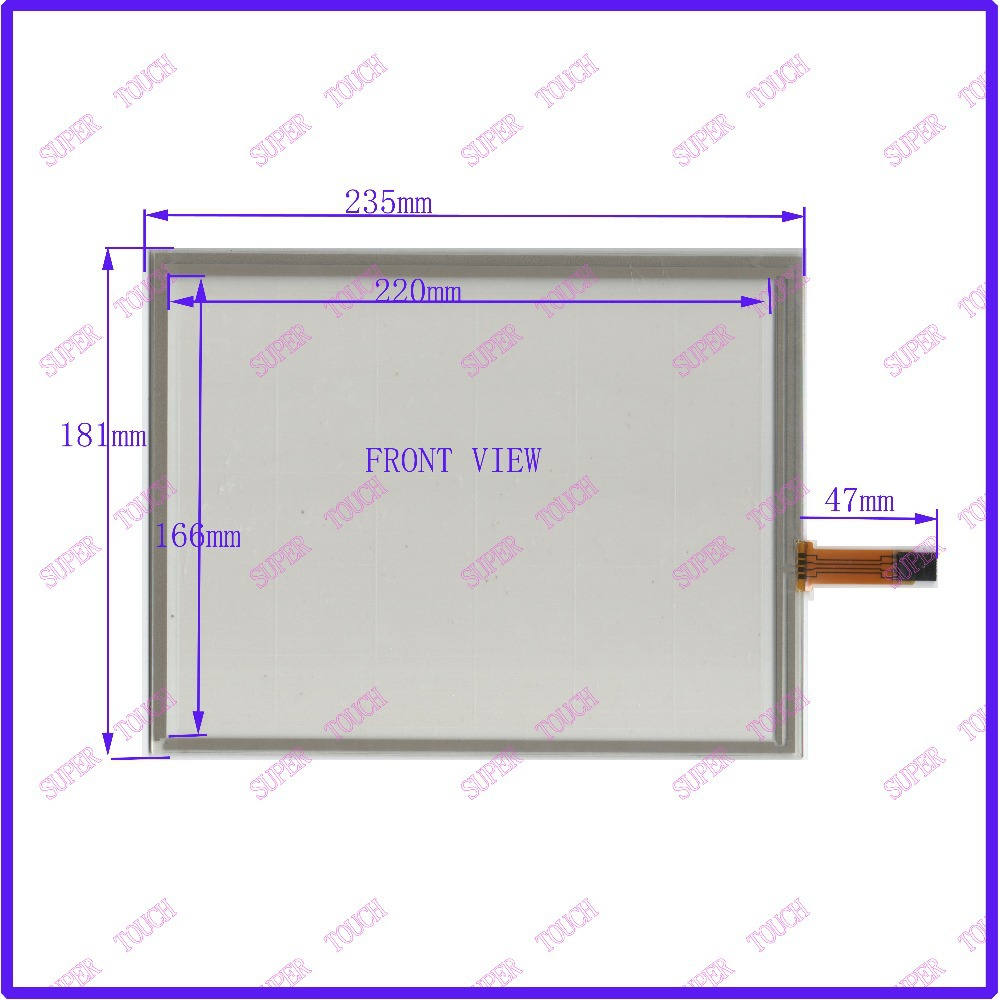 235*181  10.4 Inch Touch Screen 4 wire resistive USB touch panel overlay kit    Free Shipping