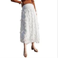 Tassele материнства Длинные юбки эластичный пояс регулируется живота одежда для беременных Для женщин Весна прелестные модные туфли Беременность QV838