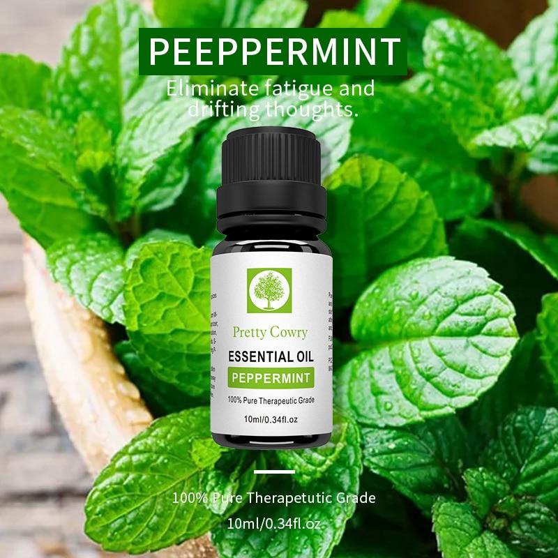 Pretty Cowry Peppermint Essential Oils 100% Pure Natural 10ml Organic Body Relieve Stress Oil Skin Care Help Sleep massage oil 8