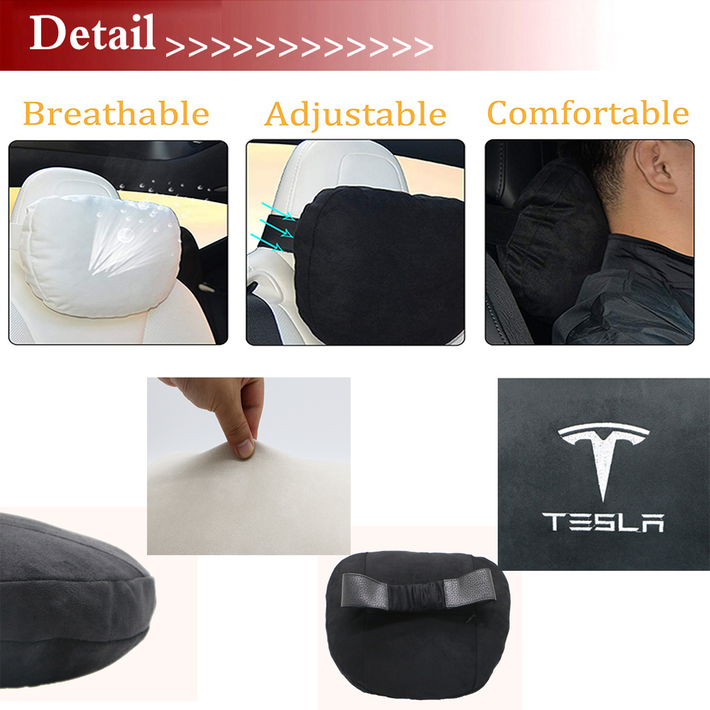 lowest price 2020 New Car Seat Headrest Breathable Neck Pillow Head Support Neck Travel Pillow Compatible for Tesla Model S Model X Model 3