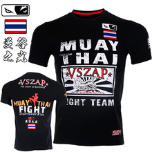VSZAP Muscle Male Fitness Fighting T-shirts Men Short-sleeved MMA Muay Thai Bangkok Thailand Tiger Fight UFC Sporting Sanda