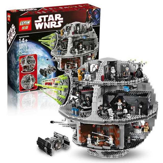US $114 99 |Death Star Set Kits 3804pcs Building Bricks Blocks Toys Gift  10188 05035 Star Battle Compatible With Lego-in Blocks from Toys & Hobbies  on