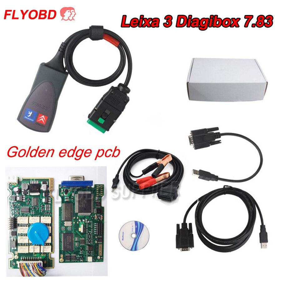 Цена за 2017 г. Лидер продаж diagibox 7.83 Lexia 3 PP2000 авто инструмент диагностики для Citr/en и peuge/t Lexia3 PP2000 автомобиля диагностический сканер