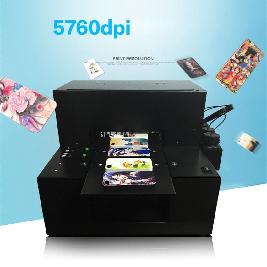 Petit uv à plat imprimante pour tpu téléphone cas gravures cas 110-220 V Entièrement automatique intégré A4UV à plat imprimante 5760*2880 DPI