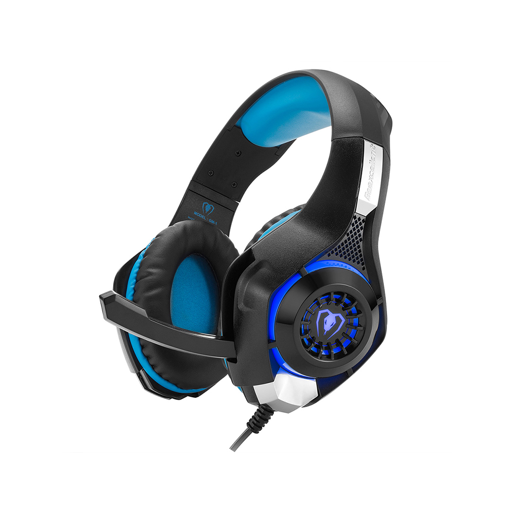 GM-1 Gaming Headset W/ Mic LED Light Wired Headphone USB 3.5MM Headband Headphones Adjustable Anti-noise Game Headset For PC PS4 each g8200 gaming headphone 7 1 surround usb vibration game headset headband earphone with mic led light for fone pc gamer ps4