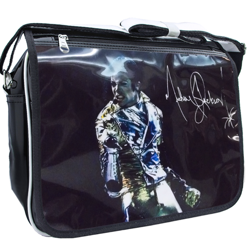 Smile Face Michael Jackson Fashion Casual PU PVC Printed Casual Zipper Student Shoulder Bag Crossbody Bags School Messenger Bag