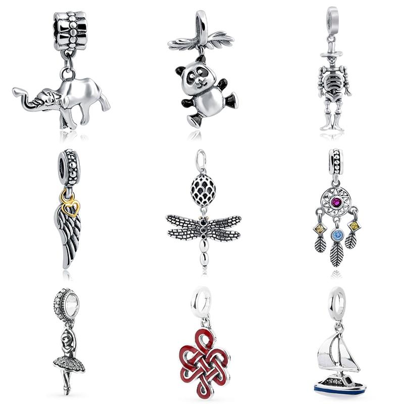 2018 Silver Pendant Beads diy charms Fit pandora Charm
