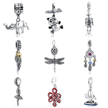 2018 Silver Pendant Beads diy charms Fit pandora Charm Bracelets Silver 925 Original Dangle Charms fashion Jewelry making gifts