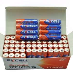 Image 2 - 60PCS PKCELL Battery LR03 1.5V AAA  Alkaline Battery 3A AM4 Single Use Battery for Electronic thermogun