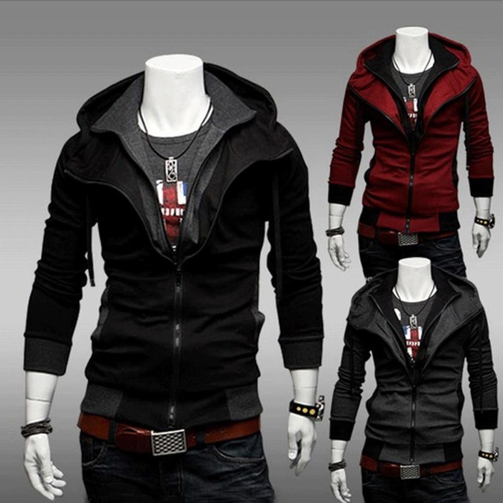 Zogaa 2019 Fashion Autumn Hooded Coat Men Casual Cardigan Sweater Jacket Plus Size S-3XL Zipper Street Mens Jackets And Coats