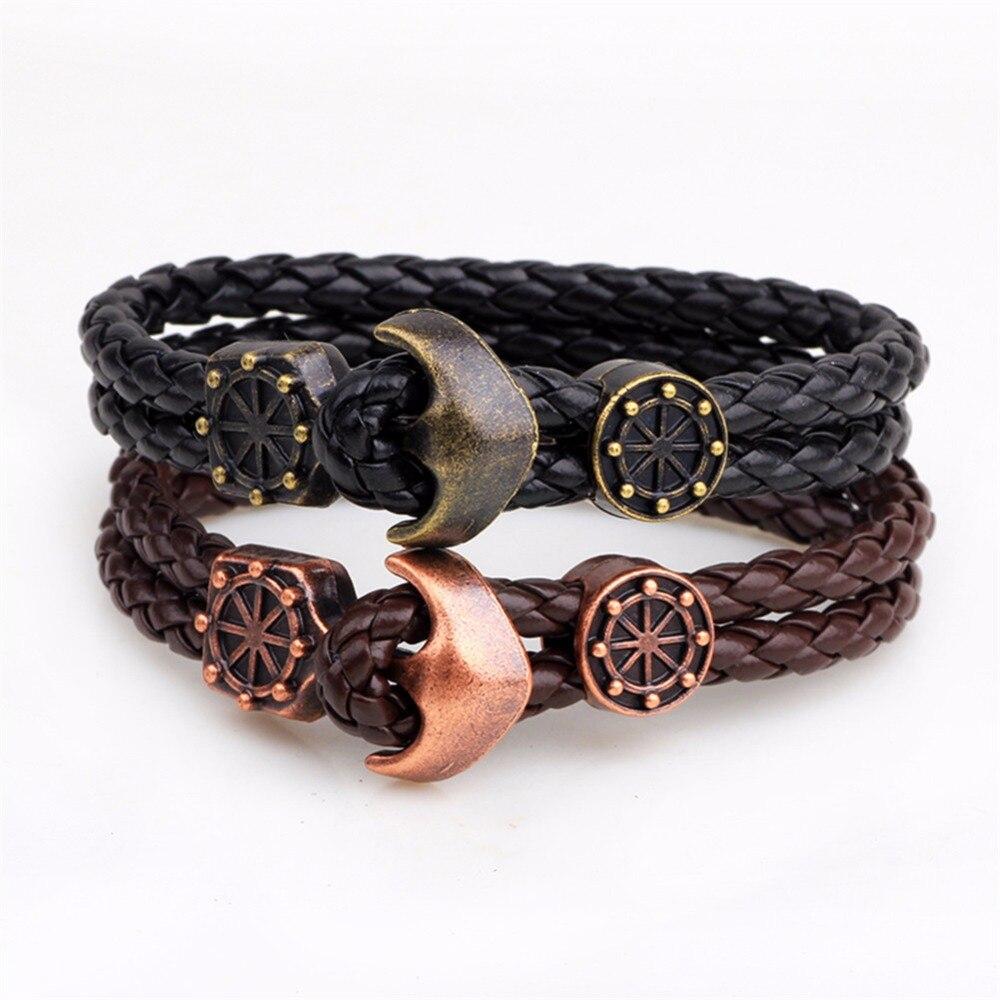 Druzy Nautical Bracelet Pu Leather Anchor Clasp Charm Crew Bracelet Unisex  Jewelry Men's Women's Friendship Bracelet