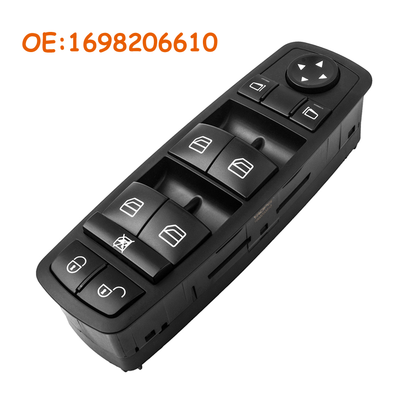 Car accessories For Mercedes A B Class W169 W245 2004 2012 Car Front Left Driver Window Master Switch OEM 1698206610 A1698206610 in Car Switches Relays from Automobiles Motorcycles