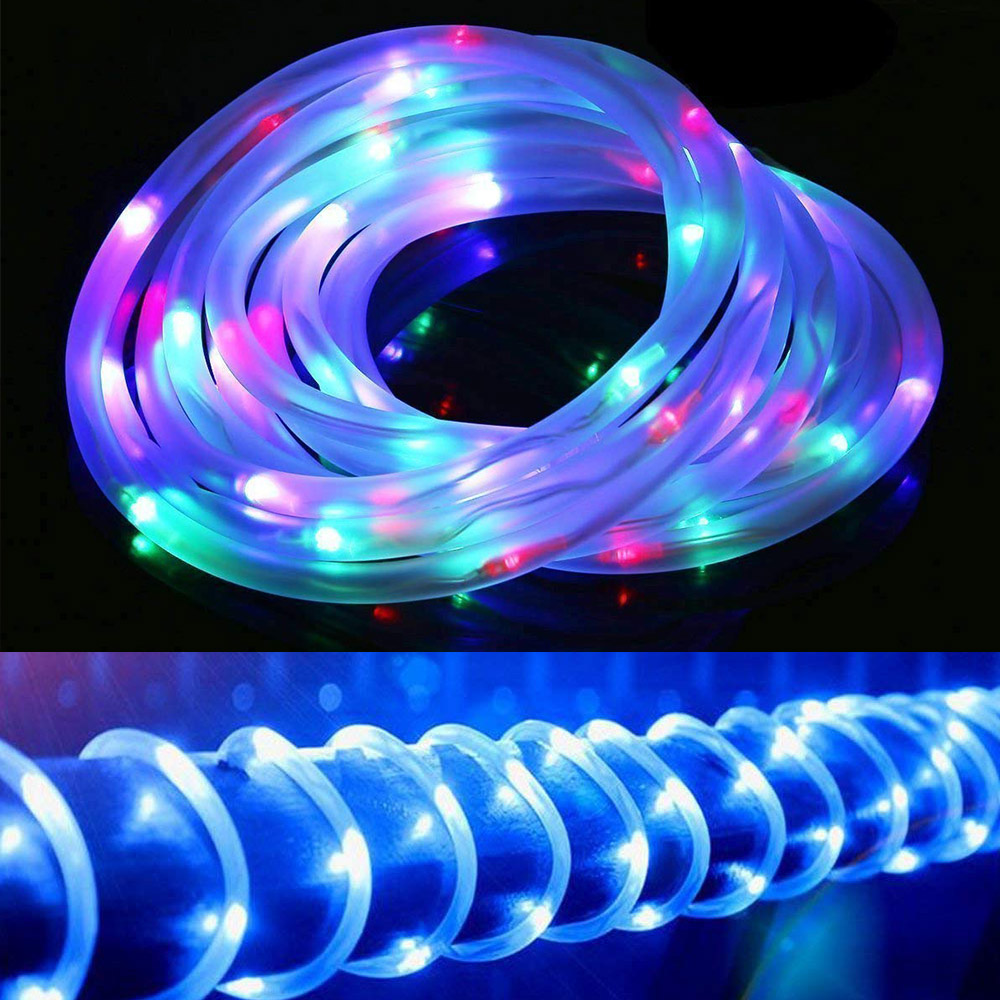 Fairy Lights Holiday LED String Lights Christmas Lights Outdoor Solar Waterproof Rope Tube LED Garland Decoration Party Wedding