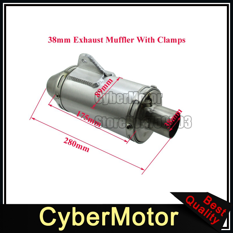 38mm Exhaust Muffler T4 Style For 125cc 140cc 150cc 160cc 190cc CRF50 KLX110 Pit Dirt Bike наклейка расписание матчей чемпионата мира