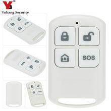 YobangSecurity 2pcs lot 433MHz Plastic Wireless Remote Control Arm disarm SOS Button For YB103 YB104 Home