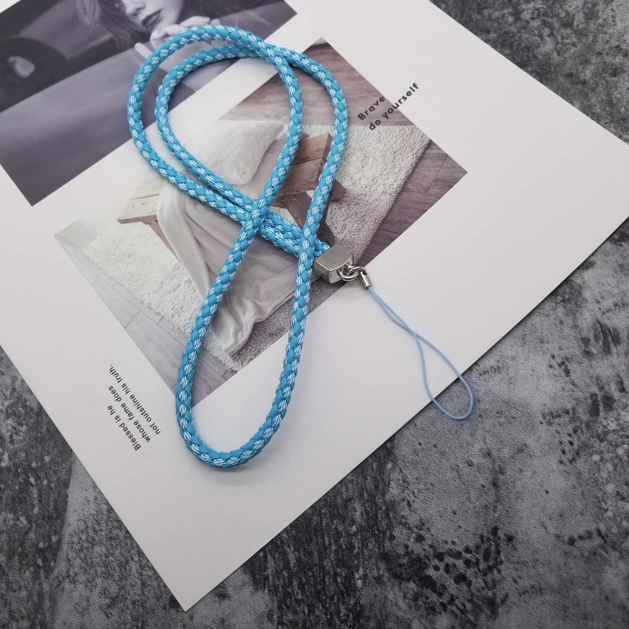 10Pcs/lot PU Braided Mobile Phone Lanyard Fashion Rope For Key Lanyard Mobile Keychains Neck Strap Anti-theft Mobile Phone Chain