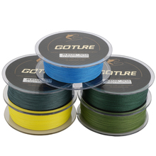 Goture 500M Braided Fishing Line Cord Rope PE Multifilament Line Saltwater Freshwater Fishing 8LB-80LB 4Strands