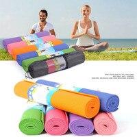 4mm PVC Non slip Yoga Mats For Fitness Exercise Brand Pilates Mat Women Sport Gym Lose Weight Pad Yoga Mat Yoga Strap