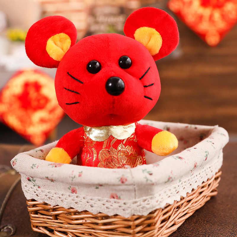 2020 ラット年マスコットおもちゃぬいぐるみマウスで唐スーツソフト人形中国新年ぬいぐるみぬいぐるみパーティーホーム装飾