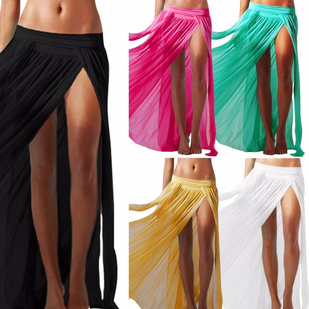 Lady Women Sexy Chiffon Summer Beach Dress Swimwear Cover Up Sarongs Bikini Scarf Tunic Wraps Long Dress Swimsuit New Style 1