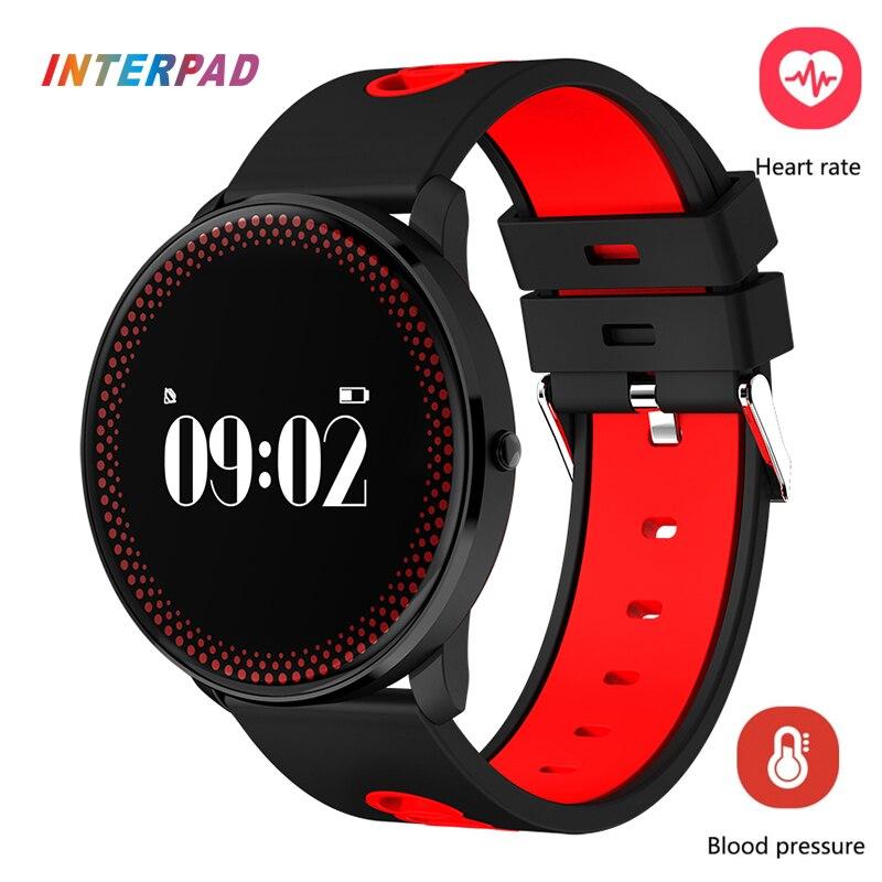 2017 Interpad Ultra Thin Smart Wristband Bluetooth 4.0 Sport Smart Band Blood Pressure Smart Bracelet For Xiaomi pk mi band 2