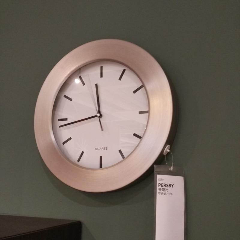 achetez en gros inoxydable horloge murale en ligne des grossistes inoxydable horloge murale. Black Bedroom Furniture Sets. Home Design Ideas